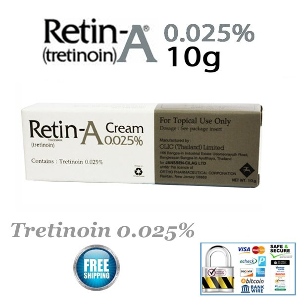 Retin-A Cream 0.025% 10g –$17.99– Retin-A Over The Counter